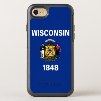 Wisconsin State Flag OtterBox Symmetry iPhone 7 Case
