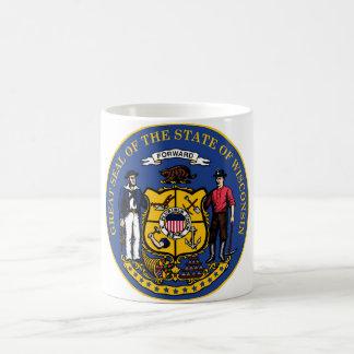 Wisconsin state flag seal united america country r coffee mug