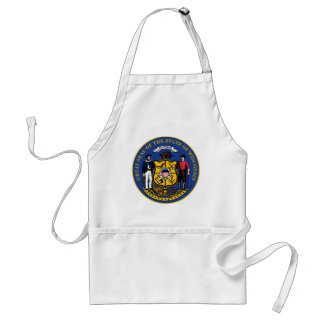 Wisconsin state flag seal united america country r standard apron