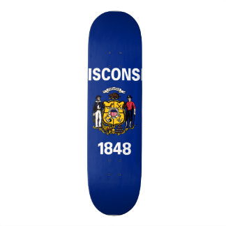 Wisconsin State Flag Skateboard Deck