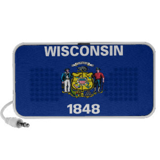 Wisconsin State Flag Travelling Speakers