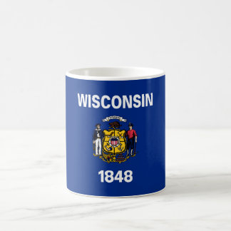 wisconsin state flag united america republic symbo coffee mug
