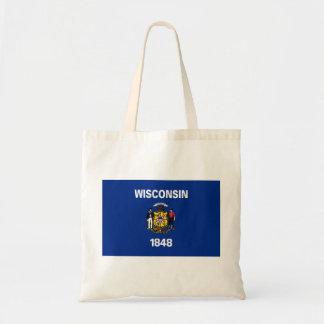 wisconsin state flag united america republic symbo tote bag