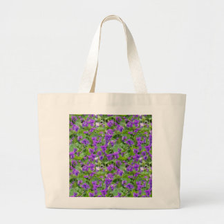 Wisconsin State Flower Wood Violets Jumbo Tote Bag