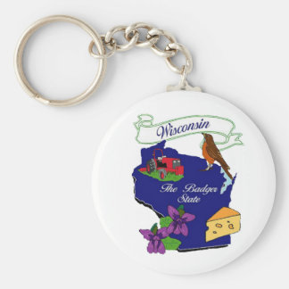 Wisconsin State Key Ring