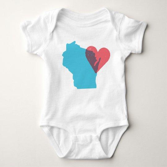 Wisconsin State Love Baby Shirt