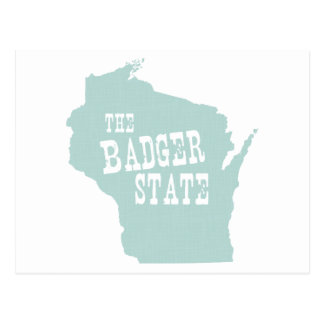 Wisconsin State Motto Slogan Post Card