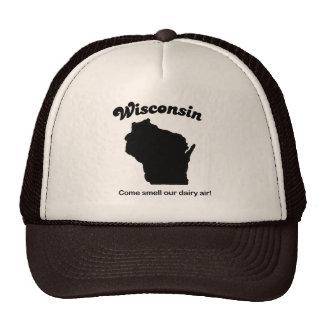 Wisconsin State Motto T-shirt Mesh Hat