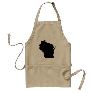 Wisconsin State Outline Aprons