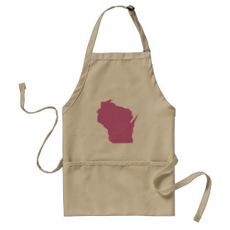 Wisconsin State Outline Standard Apron