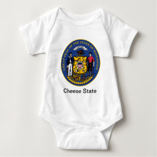 Wisconsin State Seal and Motto Baby Bodysuit