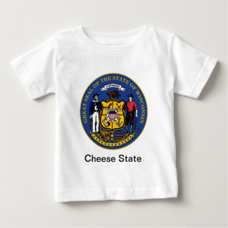 Wisconsin State Seal and Motto Baby T-Shirt