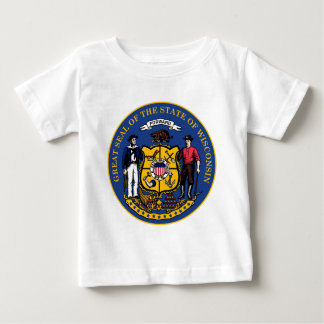 Wisconsin state seal.jpg baby T-Shirt