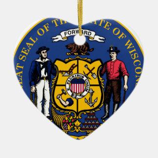 Wisconsin state seal.jpg ceramic heart decoration