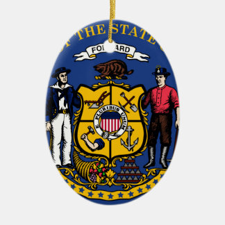 Wisconsin state seal.jpg ceramic oval decoration
