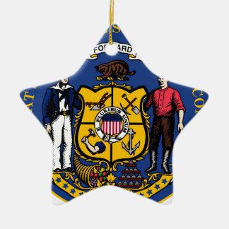 Wisconsin state seal.jpg ceramic star decoration