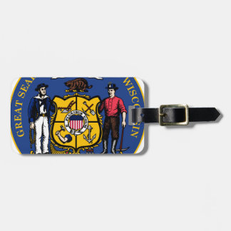 Wisconsin state seal.jpg luggage tag
