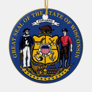 Wisconsin state seal.jpg round ceramic decoration
