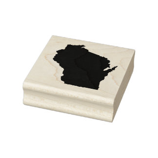 Wisconsin State Solid Rubber Art Stamp