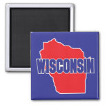 Wisconsin State Square Magnet