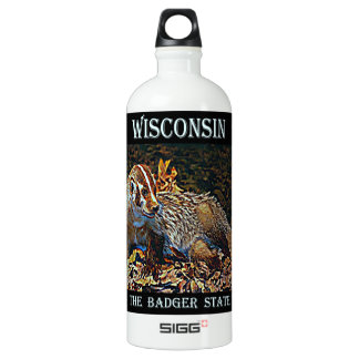 Wisconsin The Badger State Water Bottle