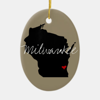 Wisconsin Town Christmas Ornament