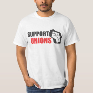 Wisconsin Unions (front only) T-Shirt