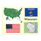 Wisconsin, USA Postcard