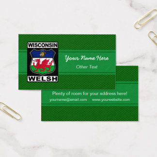 Wisconsin Welsh American Business Card Template
