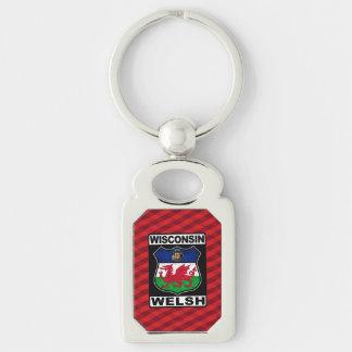 Wisconsin Welsh American Keychain Keyring