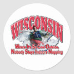 Wisconsin Whitewater Classic Round Sticker