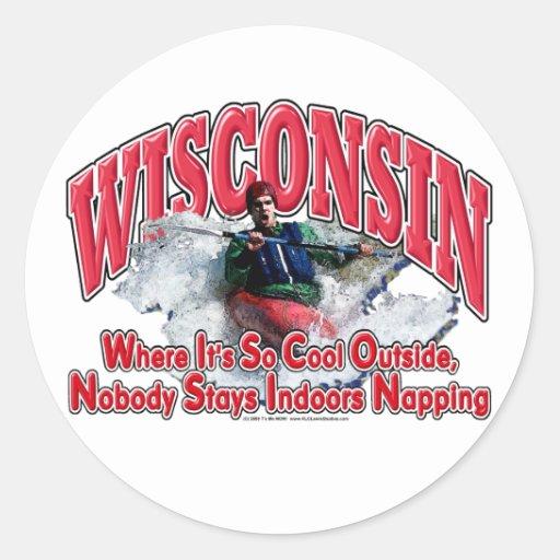 Wisconsin Whitewater Round Sticker