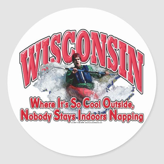 Wisconsin Whitewater Round Sticker