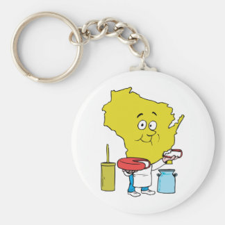 Wisconsin WI Cheese Vintage Travel Souvenir Key Ring