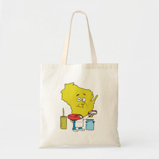 Wisconsin WI Cheese Vintage Travel Souvenir Tote Bag