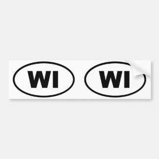 Wisconsin WI oval Bumper Sticker