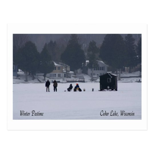 Wisconsin Winter Pastime Postcard