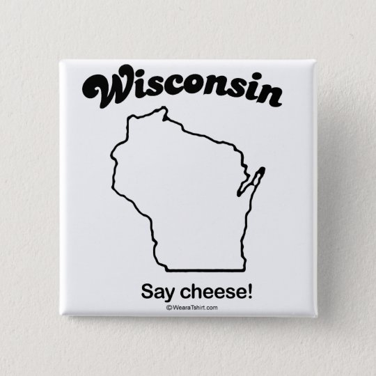 "WISCONSIN ""WISCONSIN STATE MOTTO"" T-shirts and Gea 15 Cm Square Badge"