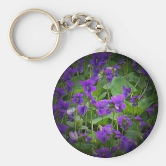Wisconsin Wood Violet Spotlight Keychain