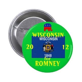 Wisconsinfor Romeey 2012 6 Cm Round Badge