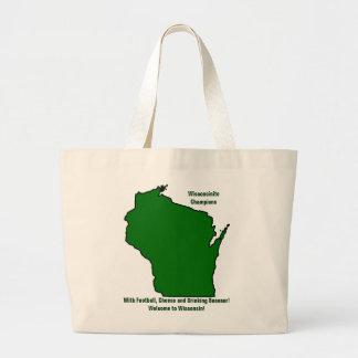 Wisconsinite Champions Football, Cheese and Beer Jumbo Tote Bag