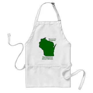 Wisconsinite Champions Football, Cheese and Beer Standard Apron
