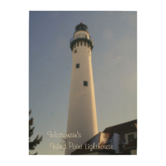 Wisconsin's Wind Point Lighthouse Wood Wall Decor