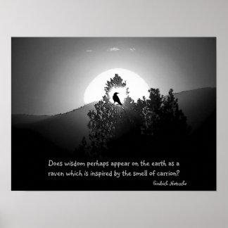 Wisdom As A Raven Poster