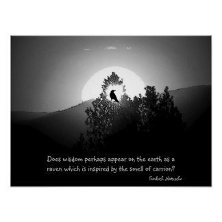 Wisdom As A Raven Posters