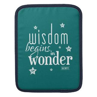 Wisdom Begins In Wonder Quote iPad Sleeve