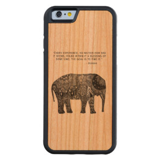 Wisdom Buddha Elephant Phone Carved Cherry iPhone 6 Bumper Case