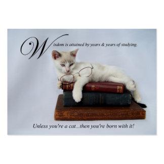 Wisdom (cat) Business/Calling Card Business Card Templates