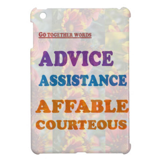 Wisdom Checklist: ADVICE assistance affable kind iPad Mini Cover