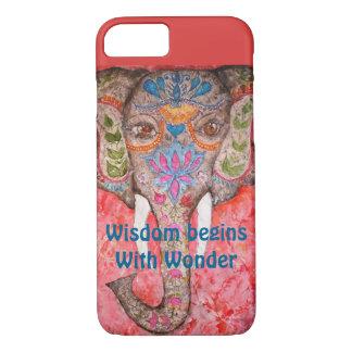 Wisdom Elephant Watercolor Art iPhone 7 Cases